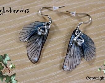 Fée de Givre ailes wings earrings boucles d'oreilles acier chirurgical stainless steel