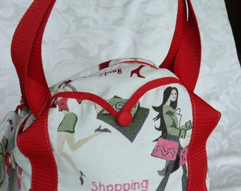 """""""SHOPPING"""" LARGE CAPACITY BAG ALONG WITH ITS MATCHING POUCH"""