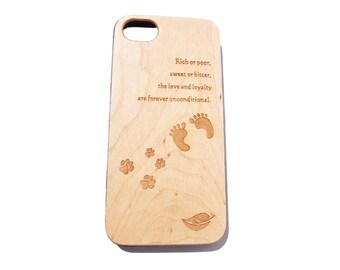 iPhone Premium Wood Phone Case - Maple Wood Dog Edition