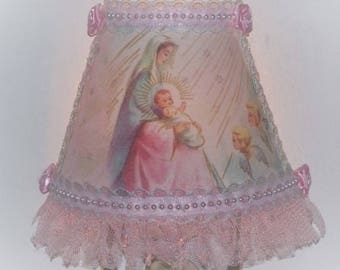 Soft Pink Madonna and Child NIGHT LIGHT Mother's Day Gift for Shabby Chic Feminine Lighting