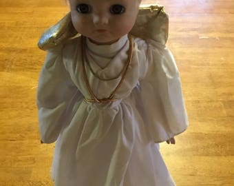 "Vintage 16"" Porcelain Angel doll"