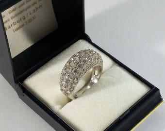 19.1 mm Ring Silver 925 Crystals glitter SR777