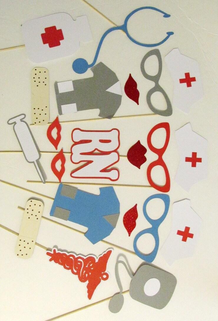 Photo Booth Props 21 Pc Nurse Retirement Party Decorations RN