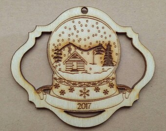 Snow Globe - Wooden Ornament