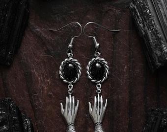 Witch earrings, pagan earrings, occult earrings, occult jewelry, hands earrings, witch jewelry, hands pendants, hands jewelry, fantasy