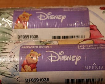 Winnie the Pooh Border ~ Disney ~ Imperial Prepasted ~ Wall Border ~ New ~ Factory Sealed ~ Pooh and his Honey Pots ~ Pastel Colors