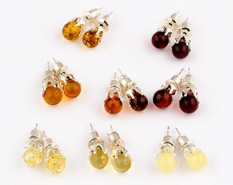 Wholesale  Natural Baltic Amber Earrings - Choose Your Color - Lot of 10