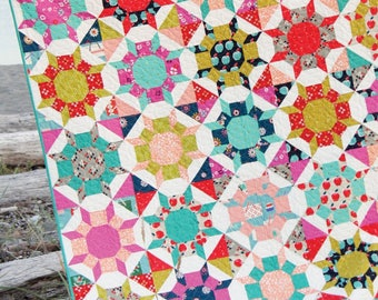 SHIMMER Quilt Pattern by Cluck Cluck Sew - FQ Friendly Quilt Pattern No Templates or Y Seams