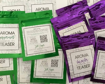 Essential Oil Aroma Teaser Labels (EO Peels) DIGITAL