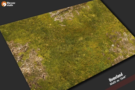 Battle Mat Homeland Field Grass Terrain For Fantasy