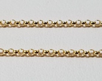 1 Foot - Gold Filled Mini Rolo 1.4mm Chain, Foot Price