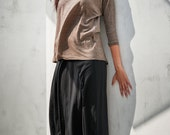 Black Drop Crotch Skirt / Low Crotch Skirt / Minimalist Skirt / Handmade Skirt / Gift For Her /Drape Skirt / Drop Crotch Skirt By Arya Sense