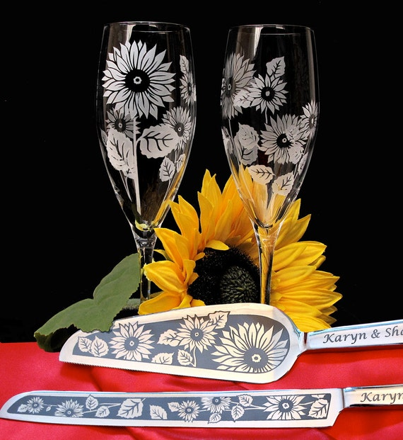 Sunflower Wedding Cake Knife