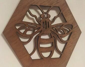 Lasercut Worker Bee Wall Art