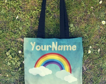 Custom Kids Tote Bag , Tote Bag , Kids Bag , Toddler Tote Bag , Girls Tote Bag , Beach Bag , Library Bag , Birthday Gift , Gift , Customized