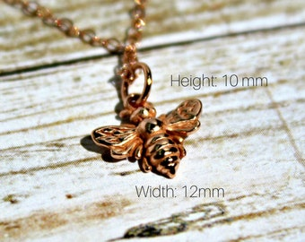 Bee necklace, Honey Bee Necklace, Tiny Honey Bee Necklace, Queen Bee Necklace, Minimalist Necklace, Dainty Necklace, Layer Necklace