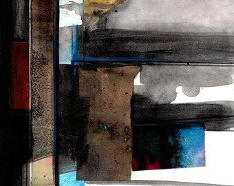 Abstract Stories ... No.3 ... Original colorful mixed media art painting by Kathy Morton Stanion EBSQ