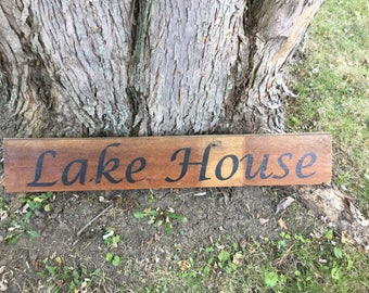 Reclaimed Barn Wood Sign - Lake House