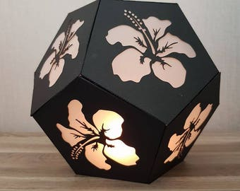 Candle Hibiscus in PNG, PDF files and silhouette