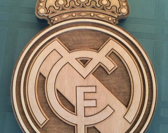 Real Madrid Football Plaque