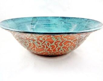 Pottery serving bowl, Large handmade Ceramic Bowl, modern home decor - In stock 195 SB
