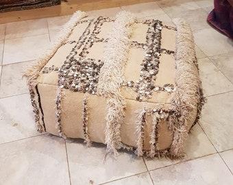 Moroccan pouf, handira  pillow,handira pouf,moroccan floor cushion, wedding blanket, handira cushion,