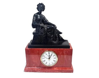 Acanto Safos NeoClassical Clock Luxury Spanish Home Furnishings Made In Spain Natural Stone