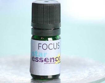 Focus a blend of Pure Essential Oils including Peppermint, Rosemary and ClarySage