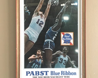 1980s Pabst Basketball Beer Sign