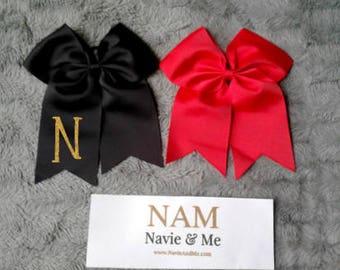 Monogram Cheer Bow |Glitter Monogram Bow |Monogram Hair Bow |Glitter Bow |Cheer Bow | Personalized Bow |Christmas Bow| Initial Bow| Hair Bow