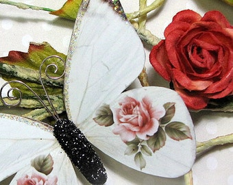 Butterfly Embellishments Pink Rose