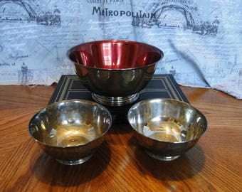 Vintage Oneida Liberty Bowl, Reproduction of Paul Revere's Bowl, Son's of Liberty, Small Serving Dish, Centerpiece