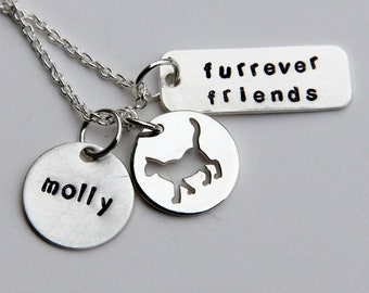 Pet Necklace - Memory Charm for Cat- Cat - Dog Memory Necklace - I Love my Cat - I love my Dog -Pet - Animal Necklace - Crazy Cat Lady