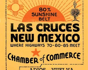 Vintage Style Lake Cruces New Mexico NM   1950's   Travel Decal sticker