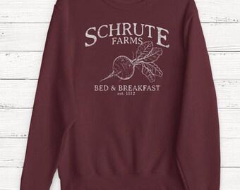 Schrute Farms Sweatshirt - The Office Sweatshirt - Dwight Schrute - Sweater - Bears Beets Battlestar Galactica - Michael Scott - Jim Halpert