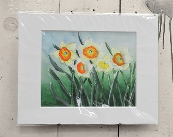 """Daffodils Giclee Print 14x11""""  100% of the profits go directly to artists with disabilities Item 208 Ken S."""