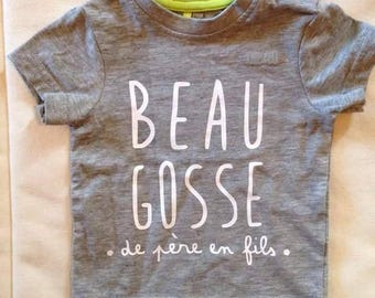 """Personalized kids t-shirt """"handsome"""""""
