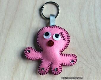 Keychain Felt, keychain purse, octopus keychain, sea creatures, keychain ocean, pendant keychain, keychain for women, handmade