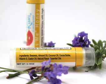 Kiss Me Honey Lip Balm, All Natural,  Hubby Gift, Co-Worker Gift, Birthday Gift, Honey Chapstick, Beeswax