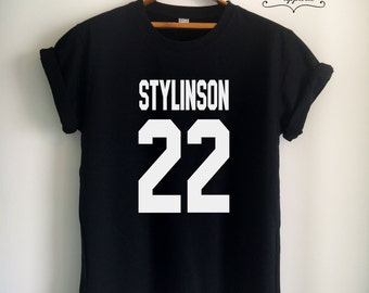Larry Stylinson Shirt Larry Stylinson T Shirt Stylinson Merch Print on Front or Back for Women Girls Men Top Tee Jersey Black/White/Grey/Red