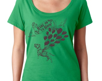 Hang on To Hope Pit Bull Shirt for PitBull and Bully Breed Lovers in sizes XS -2x