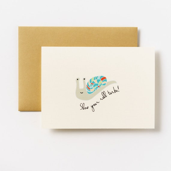 Slow Your Roll Turbo Greeting Card