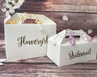 Wedding Favour Box Welcome Gift Box White Kraft