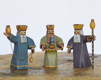 3 Wise Men for Nativity Creche Stable