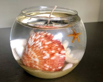 Ocean floor gel wax candle with ocean breeze scent