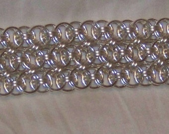 Helm Chainmaille Cuff Bracelet