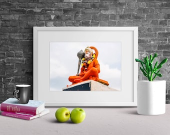 God HANUMAN, Printable Photography, Oil Painting Effect, Digital Download Photography, Wall Art, Wall Decor, Lord Hanuman, Hindu God.