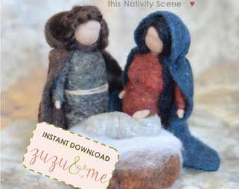 Needle Felted Nativity eTutorial DOWNLOADABLE PDF**Christmas craft**Waldorf inspired**for beginners