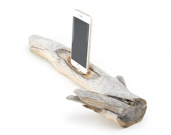Docking Station for iPhone, iPhone dock, iPhone Charger, iPhone Charging Station, iPhone driftwood dock, wood iPhone dock/ Driftwood-No.1032