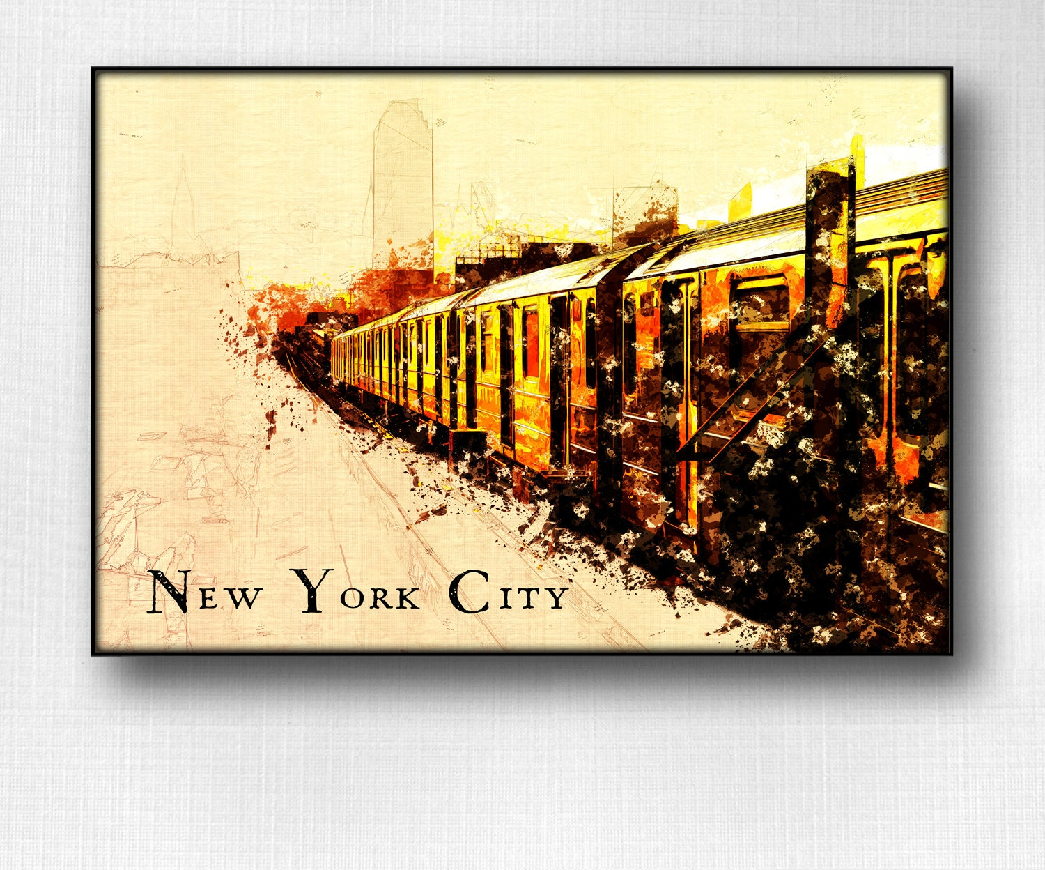 New York City Subway Poster Mta Print NYC Wall Decor ny subway